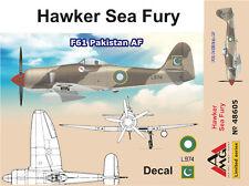 AMG 1/48 Modelo Kit 48605 Hawker Fury F.60 Pakistán AF