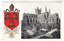 CHESTER - F S O Heraldic Cathedrals Series #107 - Embossed - c1900s era postcard