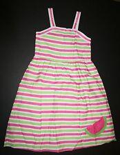 NUEVO hartstrings rosa verde de rayas blancas SANDÍA Vestido Verano Talla 8 años