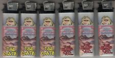 Lot of 6 Budweiser Frogs & Alligator Promotional Cigarette Lighters - Tail Gatin