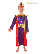 Kids Wise Man Three Nativity King Costume Christmas Fancy Dress Boys Age 5-6
