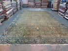 Antique Fine Oriental Rug 10'4 x 17'-0 Hand Knotted Wool Allover Ivory