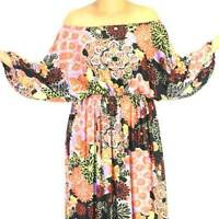 NWT Plus Sz L/XL/2X 14 16 18 NEW Jersey Spandex Off/One-Shoulder Maxi Long Dress