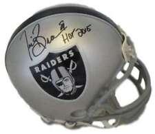 Tim Brown Autographed/Signed Oakland Raiders Mini Helmet HOF JSA 10706