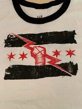 CM Punk Best in the World Ringer T-Shirt Women's 2XL XXL Chicago WWE ROH UFC