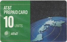 TK AT&T 10u 1993 PrePaid Card: Flat Map of Continents (Type 1 Reverse)