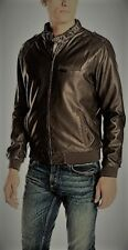 Members Only Style Leather CAFE Jacket - size 42