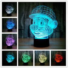SUPER MARIO BROS/ LAMPARA LED 7 COLORES- LED LAMP CHANGE ITS COLOR