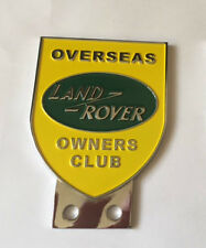 Land Rover Overseas Owners Club Grill Bumper Badge Top Quality Stainless Fixings