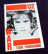 U2 War 1983 UK fold-out poster / Tour programme