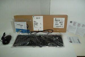 HP SK-2120 Multimedia USB Keyboard 5V 803181-001 + Mouse 672654-001 SM-2027 NEW