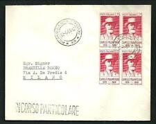 Italia Repubblica - Prampolini - quartina su busta - 1959
