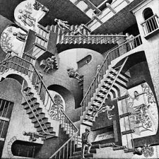Escher # 11 cm 70x70 Poster Stampa su Carta Fotografica Opaca Matt, Papi Arte