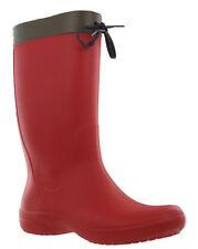 Stivali e stivaletti da donna rosso al piatto (meno di 1,3 cm) sintetico