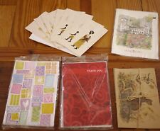 Vintage Lot of 25 Miscellaneous Greeting Thank You Blank Unused Cards Notecards