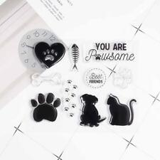 Cat Dog Paw Print Silicone Clear Rubber Stamps Seal Scrapbooking Album Card
