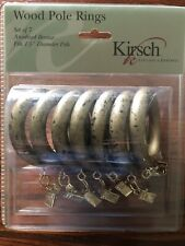 New 7 pc Kirsch Wood Pole Rings Anodized Bronze Fits 1 3/8� Diameter Pole