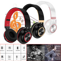 Wireless Bluetooth Foldable Headphones Hi-Fi Stereo Headset With Mic for phone