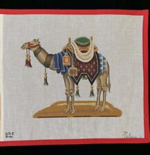 Rare Rebecca Wood Nativity Left Facing Camel Hand Painted Needlepoint Canvas 615