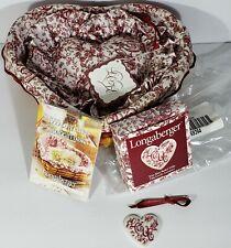 Vintage 1999 Longaberger Sweetheart ~ Love Letters Basket, Liner, Tie-on, More!