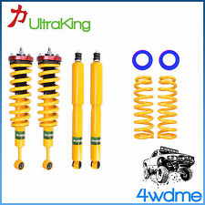 "Toyota Prado 120 Series 4WD Shocks + KING Coil Springs Front & Rear 3"" Lift Kit"
