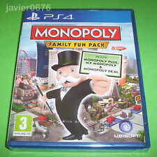 MONOPOLY FAMILY FUN PACK NUEVO Y PRECINTADO PAL ESPAÑA PLAYSTATION 4 PS4