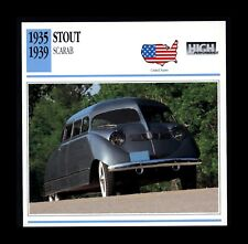 1935-1939 Stout Scarab  ATLAS EDITION Classic Car Info Spec Card