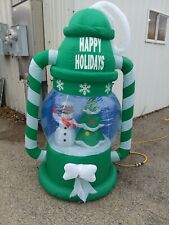 Christmas Inflatable Airblown Camping Lantern Snowman Tree 6 ft tall Yard Decor