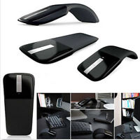 Arc Folding Black 2.4Ghz Wireless Optical Scroll Wheel Mouse Mice For PC Laptop