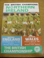 16/05/1981 Northern Ireland v England [At Windsor Park] (Also Covers The Wales G