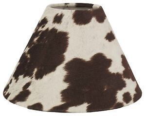 "Brown Faux Cowhide Shade,Hardback,6"" x 12"" x 8.5, Regular Clip  Fitter"