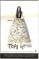 25/1/92Pgn07 Advert: china The New Single From Tori Amos & Tour Dates 10x7""