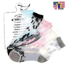 5 Pair Lot Bundle Women Music Note Piano Sheer Mesh Transparent Ankle Socks