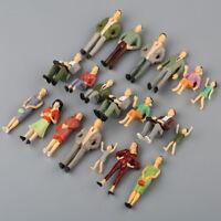 20pcs 1:25 Building Model Train Railroad Passenger Painted People Figures Scale
