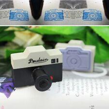Novelty Korean 2Pcs Gray Camera Wood Wooden Rubber Stamp Diary Decor Craft New