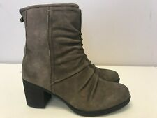 Women Rockport Cobb Hill Natashya Slouch Mid Leather Boots Stone CG8154 Wide