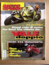 MOTOSPRINT n°41 2001 Valentino Rossi - Test Ducati 998 Testa Stretta  [P48]