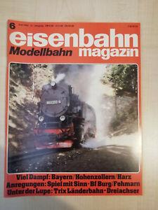 Eisenbahnmagazin Modellbahn 06/1983 - sehr guter Zustand (787)