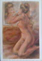 VINTAGE - Nu assis signé Schouppe - 1950/60_