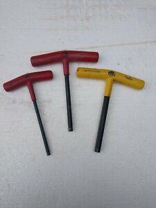 """Lot of 3 Mac Tools, 10mm, 7/32 & 5/16"""", T-Handle Hex/Allen Wrench , 5"""" x 6"""""""