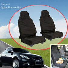 2x Waterproof Black Car Front Seat Covers Protector From Sweat, Stains and Odors