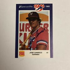 1985 HUNTSVILLE STARS BURGER KING SET OF 25 CARDS w/ JOSE CANSECO (RC) SIGNED