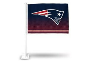 New England Patriots 11X14 Window Mount 2-Sided Car Flag