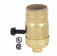 BRASS FINISH ~ TURN KNOB ~ ON/OFF Switch ~ LAMP SOCKET ~ E26  Light Replacement