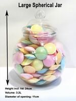 Large Plastic 3200ml Plastic Sweet Jars with Victorian Style Lids Wedding Party