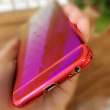 Thin Ray Crystal Clear Gradient Case Hard Acrylic Mirror Cover for iPhone 7 Plus