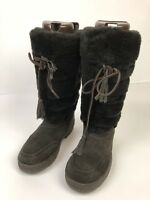 J Crew Boots Shearling Size 8 Style 81258 Chocolate Adirondack Womens Brown Shoe