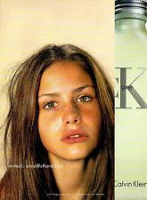 Publicité Advertising 2001  Parfum ONE de CALVIN KLEIN  CK