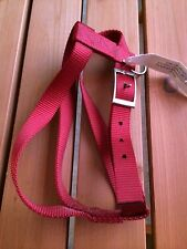 "Locatis Leather Products Harness 28"" Red Nylon Standard Non-Restrict Adjustable"