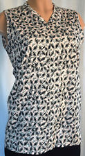 MARNI PINK/BLACK FLORAL SLEEVELESS BLOUSE SIZE US 46